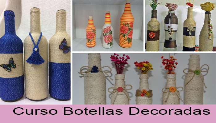curso decoracion botellas